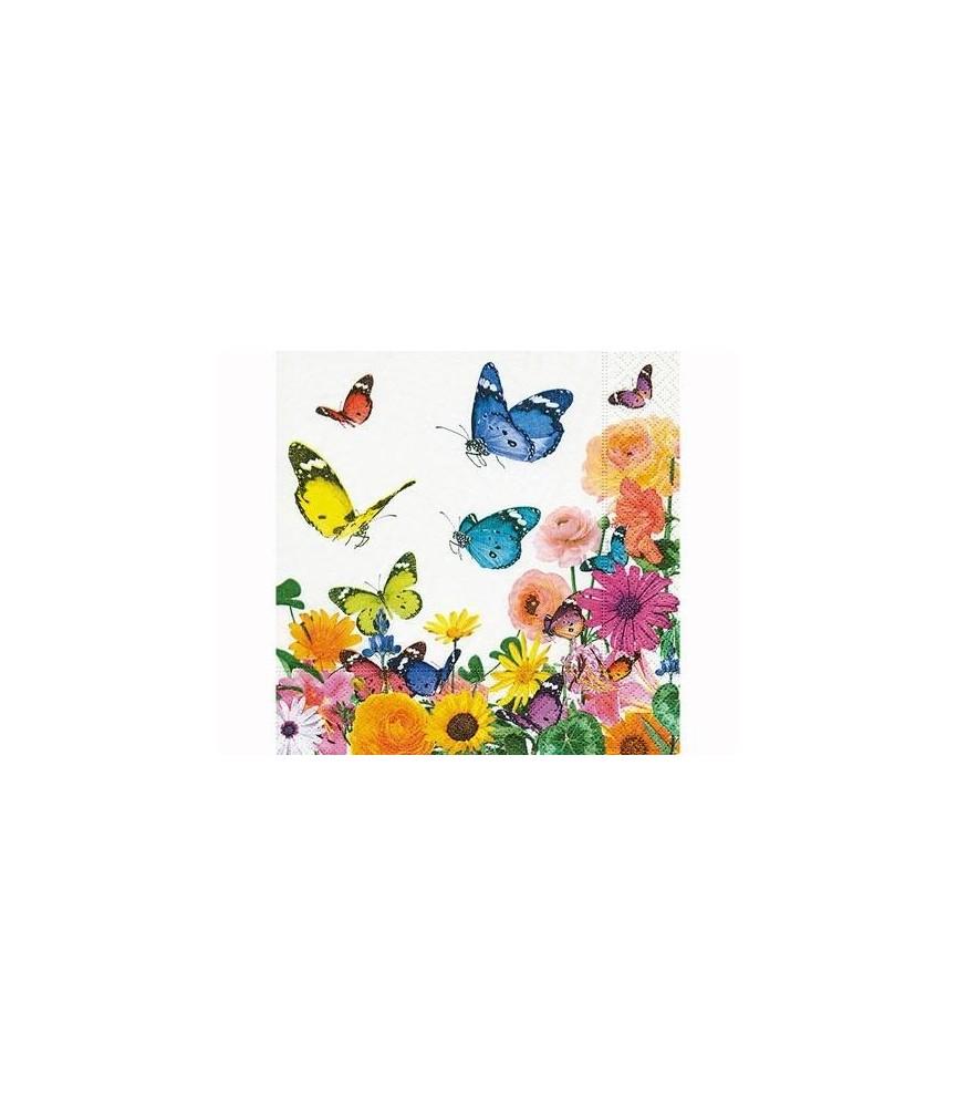 Servilleta para decorar mariposas multicolor