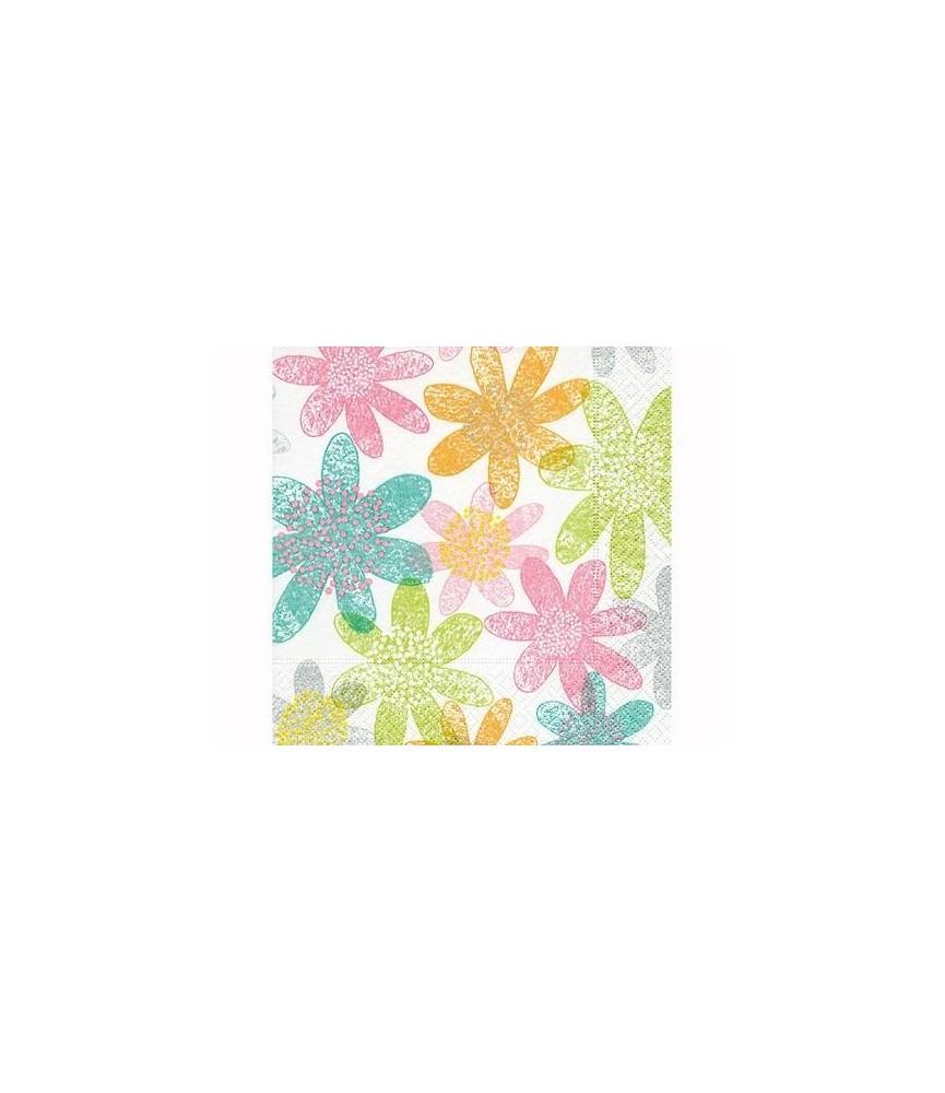 Servilleta para decorar flores geometricas