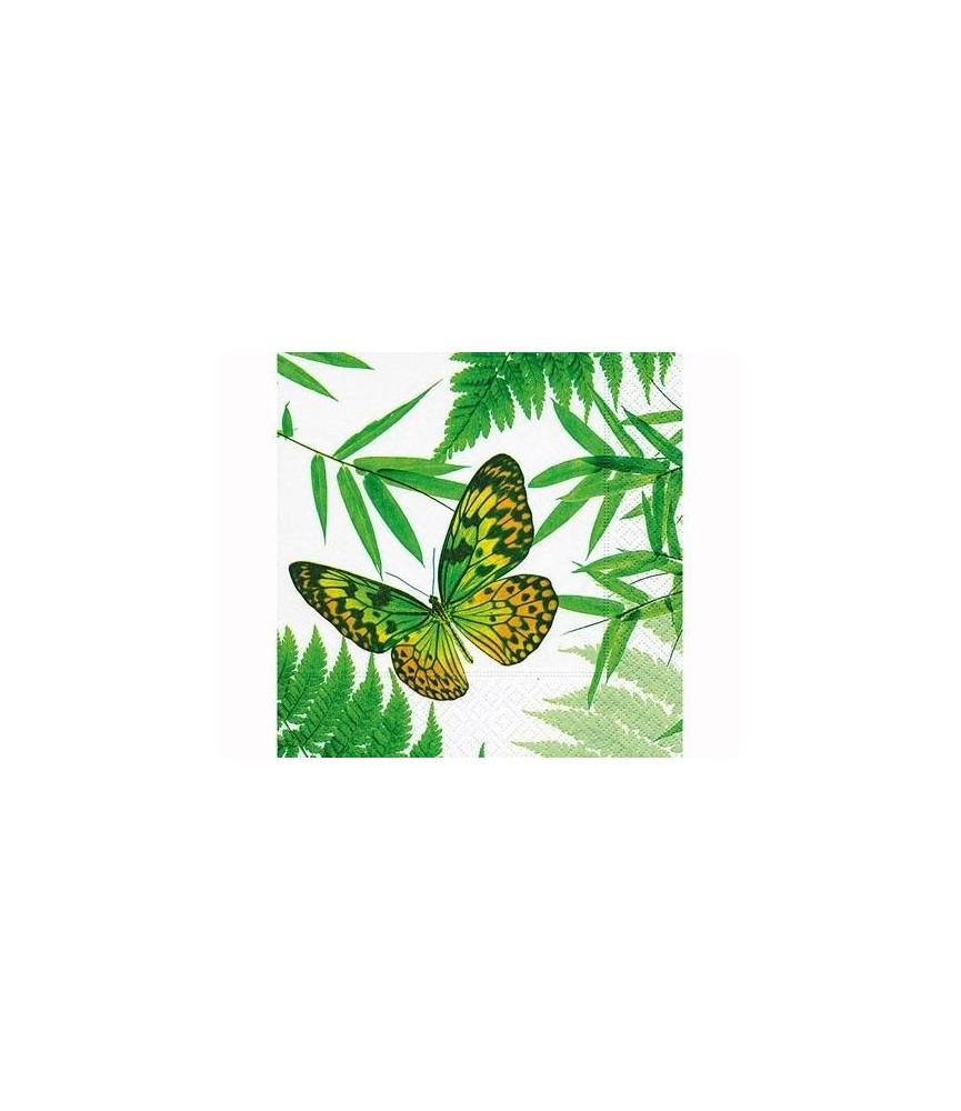 Servilleta para decorar mariposa tropical