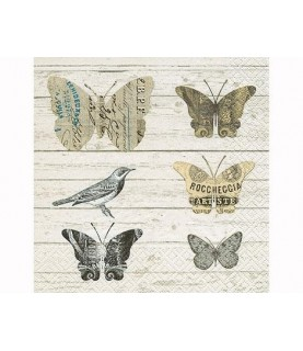 Servilleta de papel mariposas de papel