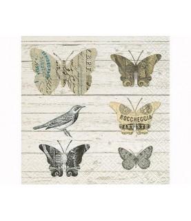 Imagén: Servilleta mariposas de papel