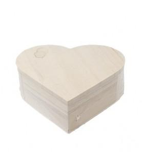 Caja de madera de corazón