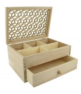 Joyero de madera con cajón