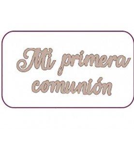 """Comprar Letras de cartón """"mi primera comunión"""" de Conideade"""