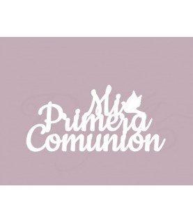Comprar Silueta carton blanco frase mi primera comunión de Conideade