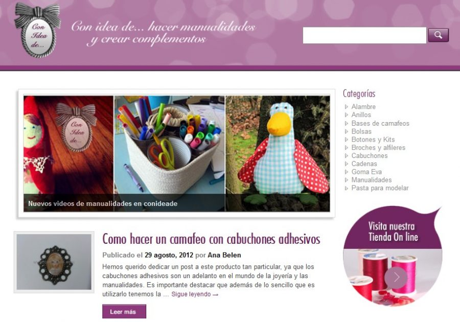 blog material para manualidades Con Idea de