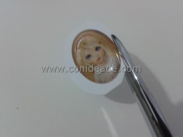 Cabuchón adhesivo con imagen