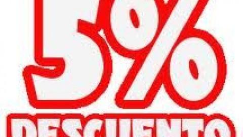 5% descuento durante septiembre