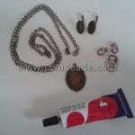 Materiales necesarios para hacer un conjunto de pendientes y camafeo