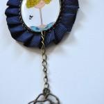 Broche azul chica - Baba broches y cositas