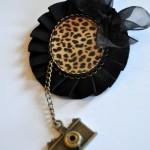 Broche negro y leopardo - Baba broches y cosita