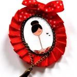 Broche rojo chica - Baba broches y cositas