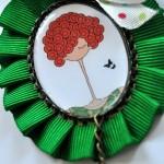 Broche verde chica - Baba broches y cositas