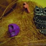 Colgante buho bronce - Material para manualidades www.conideade.com