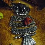 Colgante buho plata - Material para manualidades www.conideade.com