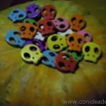 Cuentas calaveras planas - Material para manualidades www.conideade.com