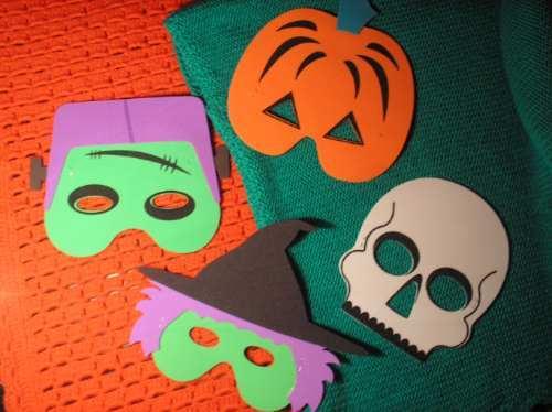 Máscara de goma eva Halloween, Blog material para manualidades ...