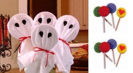piruletas fantasmas Halloween