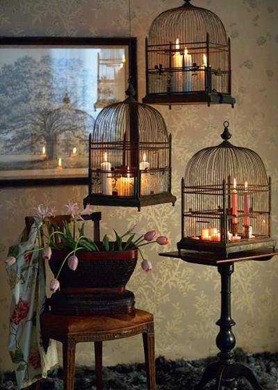 decorar con jaulas en Halloween