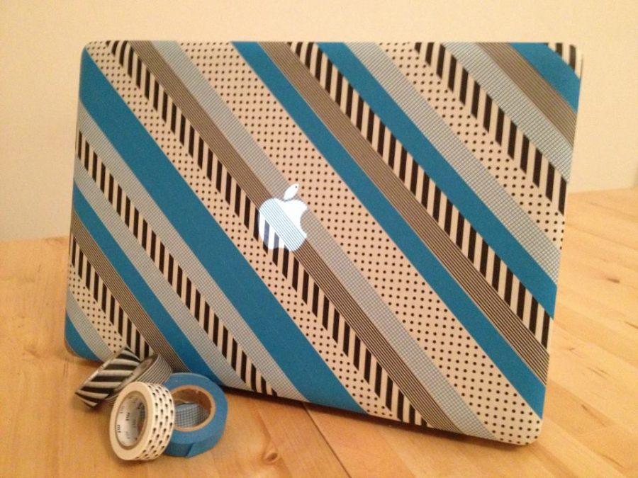 Mac decorado con cinta japonesa