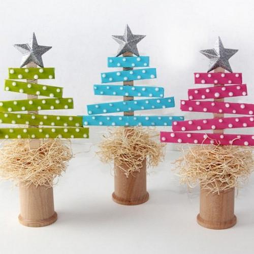 árbol de navidad con palitos de helado