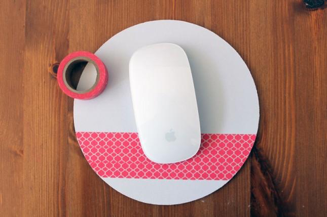 ratón decorado con washi tape