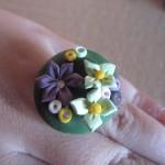 Anillo pasta modelar flores