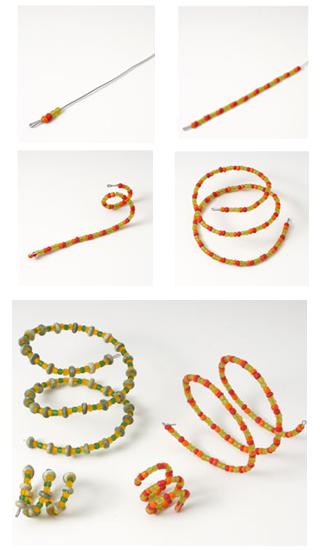 tutorial pulsera abalorios en espiral