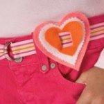 corazon de goma eva para el cinturon