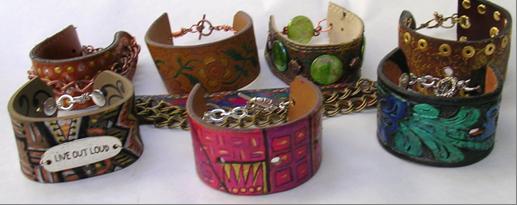 Reciclar cinturones para hacer brazaletes