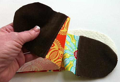 Relleno fieltro cinturon tela patchwork