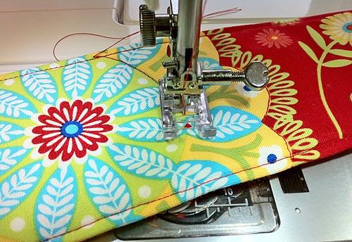 Decorar cosiendo cinturon tela patchwork