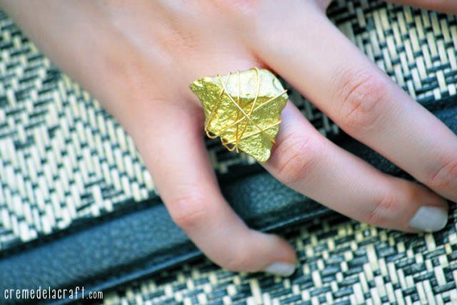 Manualidad hacer un anillo dorado
