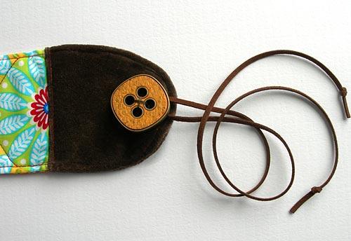 Poner cordon de ante para atar cinturon tela pachtwork