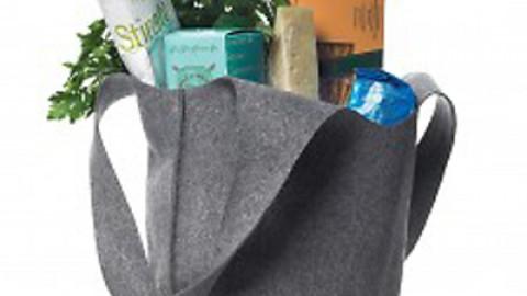 bolsa de fieltro en color gris