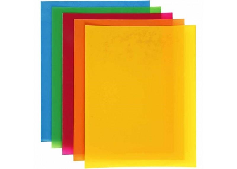 plástico mágico de colores