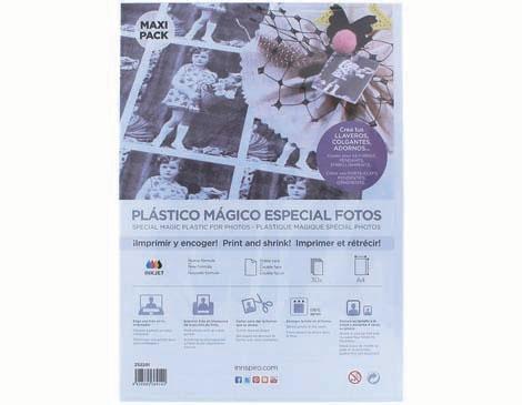 plástico mágico especial para fotos