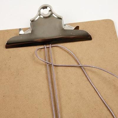 cortar exceso de cuerda de cuero
