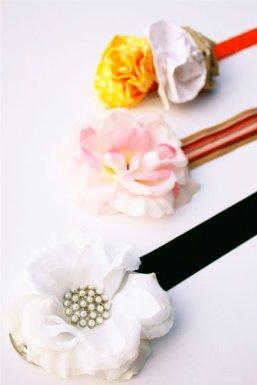 cinturones con flores de tela