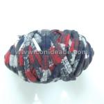 Mini rollo trapillo estampado rojo y gris