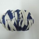 Mini rollo trapillo rayas blancas y azul marino