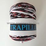 Rollo trapillo estampado rojo, negro y blanco 800 gr