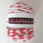 Rollo trapillo rayas blancas y rojas 800 gr