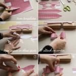 Tutorial en imagenes lazo de papel para regalos