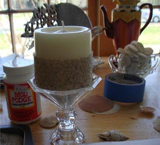 Como Decorar Velas Con Arena Y Conchas Blog Material Para - Como-decorar-una-vela