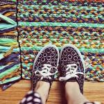 alfombra de tela trenzada