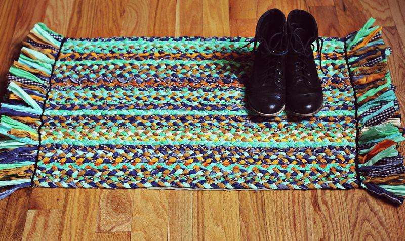 alfombra de trenzas