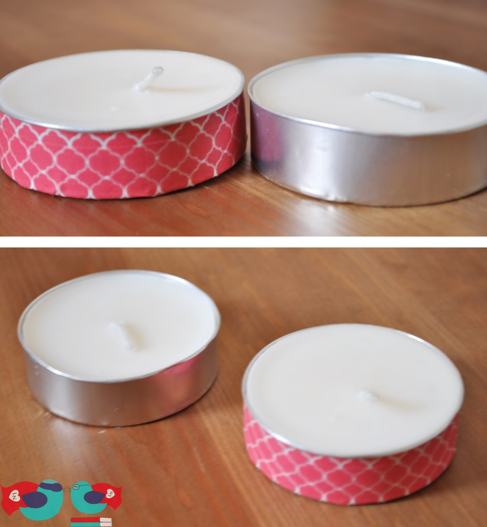 decorar velas con cinta washi tape