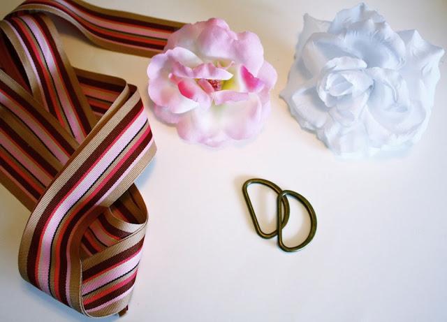 materiales a utilizar para renovar un cinturon