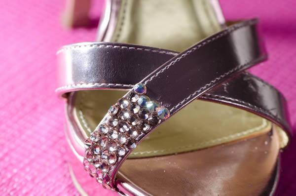 sandalia con circonitas